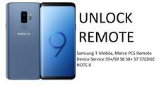 Unlock Remote T-Mobile, Metro   Device Service S9+/S9 S8 S8+ S7 S7EDGE NOTE 8