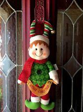 Elf Plush Door Wreath Hanging Boy Elf Ornament Christmas Wreath Figure