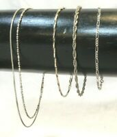 Lot of 3 Solid Sterling Silver Petite 7 - 7.5 in Bracelets 925 + double ankle
