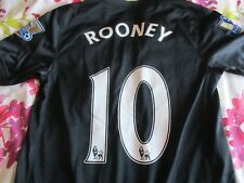 ROONEY #10 Manchester United Away Camicia 2009-10 C/W Champions Patch XL YTH