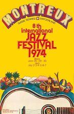 Music Poster Reprint Montreux Jazz Festival 1974