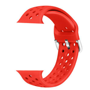 adjustable Silicone Sport Band 38/40/42/44mm For Apple Watch Series 2 3 4 5 6