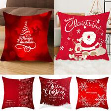 45×45cm Christmas Throw Pillow Case Printing Cushion Cover Xmas Home Sofa Decor