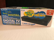 Apex Digital DT250 TV Converter Box with Analog Pass Through & Remote New Sealed