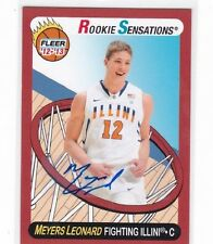 2012-13 Meyers Leonard  Fleer Rookie Sensations Autograph Card  AU RC Blazers C