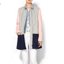 Sabine Women's Layne Colorblock Gray/Navy/Pink Coat Sz M