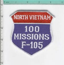 F-105 F105 THUD THUNDERCHIEF 100 MISSIONS NORTH VIETNAM REPUBLIC PATCH USAF