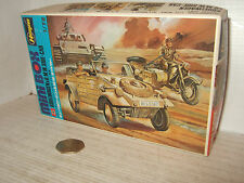 Hasegawa No12 German Kubelwagen & BMW &Sidecar Model Kit in 1:72 Scale