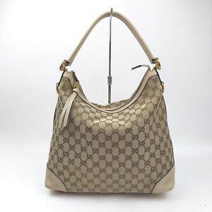 Gucci Shoulder Bag  Browns Canvas 1516121