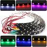 2Pcs 12 LEDs 30cm 5050 SMD LED Strip Light Flexible Waterproof 12V DIY Car Decor