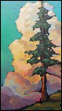 Wm HAWKINS  Western  Tonalist  Landscape Oil Art Original Impressionism Painting