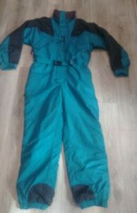 Vintage 90s Columbia Mens Snow Full Body Ski Suit Size XL Retro Green Insulated