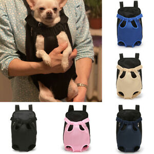 Mesh Pet Carrier Backpack Outdoor Travel Products Bags Small Dog Cat Backp`AU