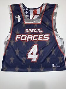 USA Team LAX Special Forces Mens S/M Wounded Warrior Project Jersey Reversable