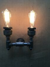 Wrought Iron British Steampunk Vintage Industrial Double Wall Light