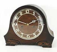 Art Deco Wood Mantel Chime Clock Not Working Hand Carved Feet Vintage Original