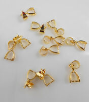 Wholesale 18K GOLD Plated Pendant Jewelry Accessories Ear Clip Connection Bail