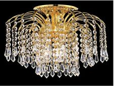 "Palace Lexington 16""  Crystal Chandelier Flush Mount Light Gold ceiling light"