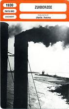 Fiche Cinéma. Movie Card. Zuiderzee (Pays-Bas) 1930 Joris Ivens