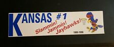Vintage 1989-90 University Kansas Jayhawks Basketball Bumper Sticker