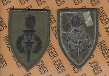 US Army SMA Sergeant Major Academy OD Green & Black BDU uniform patch m/e