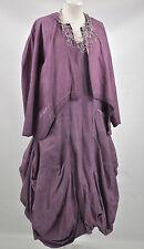 D'CELLI  LAGENLOOK  parachute dress & JACKET SIZE. M/L PURPLE