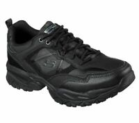 Sneaker Skechers Wide Fit Black Shoes Men Memory Foam Sport Train Comfort 52700