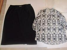 Briggs misses plus size 3X black modest a-line skirt & Time to Bloom 2X Lot j131
