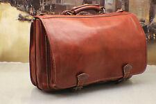 I MEDICI Italy Vintage Leather Messenger Briefcase Satchel Laptop Bag Unisex