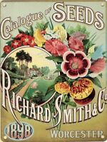 New 20x30cm Smith Seed Catalogue vintage style metal advertising wall sign