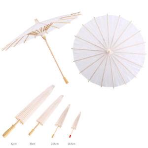 20/30/40/60cm Vintage White Paper Umbrella Parasol Wedding Bridal Party Decor
