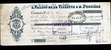 """CLERMONT-FERRAND (63) CONFISERIE """"E. VALLON DE LA VILLETTE & M. PRUNIERE"""" en1890"""