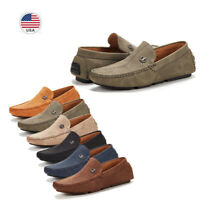 Mens Driving Loafers Dress Shoes Casual Slip On Flat Moccasins Shoes Size 6.5-15