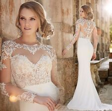 New mermaid white/ivory wedding dress custom size 2-4-6-8-10-12-14-16-18-20-22+
