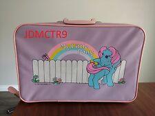 Vintage 1984 My Little Pony Zipper Suitcase Carry Case Hasbro Ponies