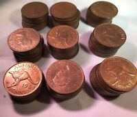 1964 Penny Predecimal 10 X Coin Bulk Lot Not Checked Variety Or Minimum EF Grade