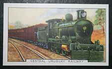 Uruguay Railway   Steam Passenger Train  Original 1930's Vintage Card  VGC