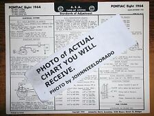 1964 Pontiac Eight Series 23, 26, 28 & 29 Models Aea Tune Up Chart