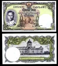 THAILAND 5 BAHT ND 1956 P 75 SIGN 41 SOR/PUAY UNC W/ LITTLE TONE
