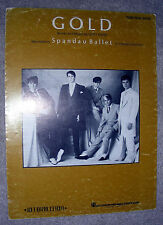 1983 GOLD Sheet Music SPANDAU BALLET by Gary Kemp PIANO/VOCAL/GUITAR
