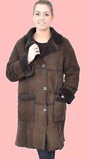 WOMENS L XL Shearling Lambskin Sheepskin Fur Lamm Coat Jacket Ladies MM809