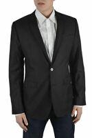 Dolce & Gabbana Men's Brown Silk Wool Two Button Blazer Size US 38 IT 48