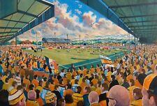 Wheldon Road Stadium Fine Art A3 Print - Castleford Tigers Rugby League