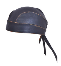 Distressed Gray And Brown Head Wrap Skull Cap