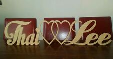 FREESTANDING CUSTOM RAW MDF WOODEN LETTER WEDDING NAME Personalised wood cutout