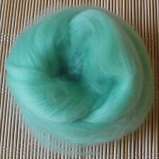 100g Merino Wool Tops 64's Dyed Fibres - Aqua - Felt Making and Spinning