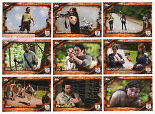 2017 Topps Walking Dead Season 6 - 100 Trading Card Rust Parallel Base Set