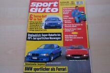 2) Sport Auto 02/1994 - Lancia Hyena Zagato mit 25 - VW Golf III ABT Cup 3.0 mi