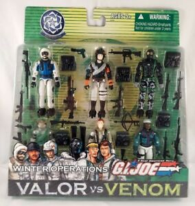 GI Joe• VALOR vs VENOM• WINTER OPERATIONS • Hasbro 2004 New • SNAKE EYES +++