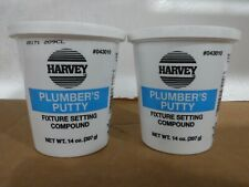 """New Listing( Lot Of 2) Harveyâ""""¢ Plumber's Putty - 14 oz- Fixture Setting Compound."""